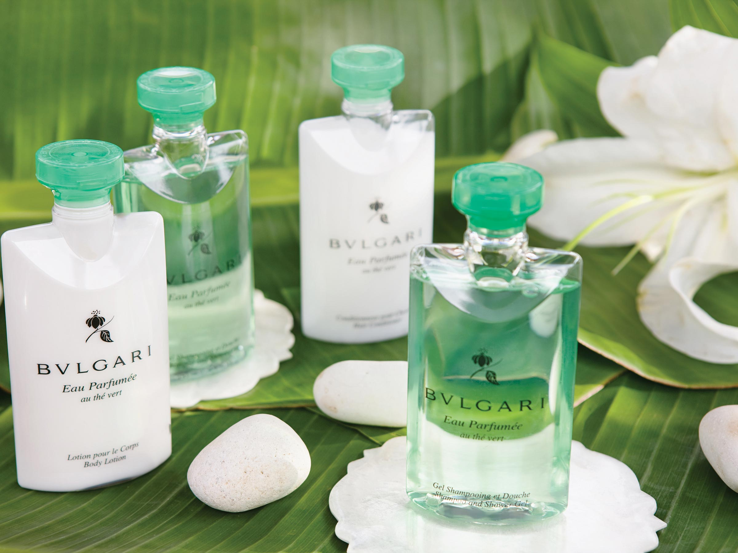 Bvlgari Amenities at our All Inclusive Family Resort